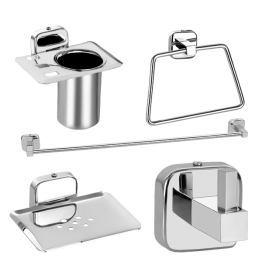 Bathroom Accessories Set Square 5 Pieces for bathrooms and wash area. - The Green Interio