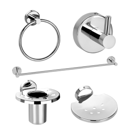 Premium 5 Pieces Bathroom Accessories Sets gives great look to lavatory