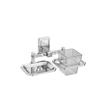 Stainless Steel Toothbrush Holder With Soap Dish heavy bear series