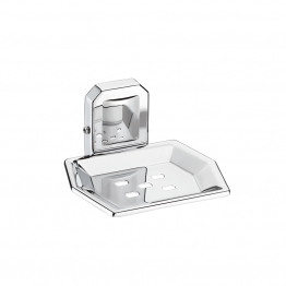 Stainless Steel Bathroom Soap Dish Chrome Plated Zebron Stage Series
