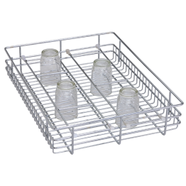 Glass Basket Stands, Glass Storage Baskets, Glass Holder SS Glass Basket 4X21X20 for kitchen cabinet - The Green Interio