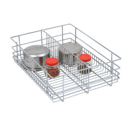 SS Drawer Basket, Kitchen Drawer Baskets, Partition Wire Basket, Stainless Steel Partition Drawer Basket, Partition Drawer Basket, Kitchen Baskets, SS Partition Basket, SS Kitchen Partition Baskets - Partition Baskets - Green Interio