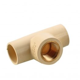 "cPVC Brass TEE Fittings 3/4"" X 3/4"" X 1/2"" for hot water"