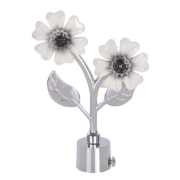 White Flower Curtain Rod Finials in India