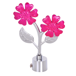Pink Flower Curtain Bracket (Curtain Rod Finials) for children room