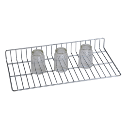 "Glass Rack Holder - Glass Rack 2"" Height 10"" Width 32"" Depth Stainless Steel"