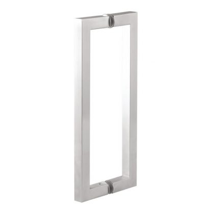 SS304 Glass Door Pull Handle Square SS - SS304 Glass Door Pull Handle Square Tube Type