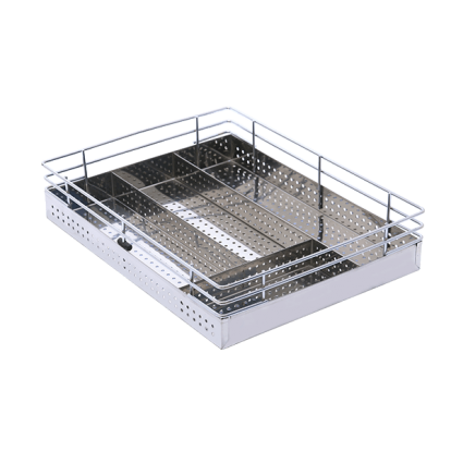Think Space Sheet Cutlery Basket - Stainless Steel Sheet Cutlery basket - SS Sheet Cutlery Basket - SS Perforated Cutlery Basket