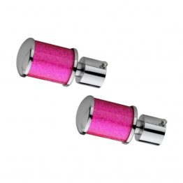 Pink Sparkle Curtain Finials - Pink Curtain Bracket | The Green Interio