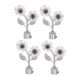 White flower curtain bracket The Green Interio Curtain Fittings Store